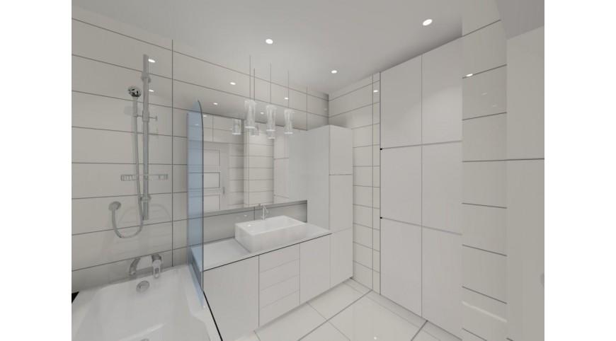 Biała łazienka Aranżacja I Projekt Styl Nowoczesny