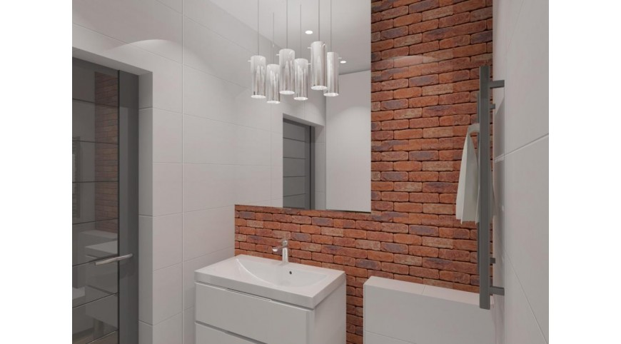 łazienka Z Cegłą Projektaranżacja łazienki Z Cegłą Z